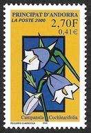 ANDORRE 2000 -  YT 530-  Campanule  - NEUF** - Cote  1.90e - Andorre Français
