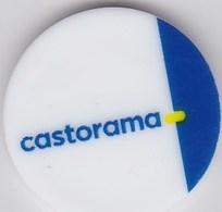 Jeton De Caddie En Plastique - Castorama - Grande Surface De Bricolage - Revers Pièce 1€ - Trolley Token/Shopping Trolley Chip