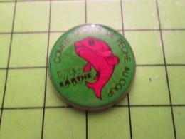 718b Pin's Pins / Beau Et Rare : Thème SPORTS / COMITE SPORTIF DE PECHE AU COUP DE LA SARTHE Sans Jean-Paul - Badges