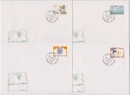 Lichtenstein FDC 1992  MiNr.1041 - 1044 Grußmarken ( D 6179 )  Günstige Versandkosten - FDC