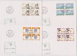Lichtenstein FDC 1992  MiNr.1041 - 1044 4er Block Grußmarken ( D 6180 )  Günstige Versandkosten - FDC