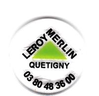 Jeton De Caddie En Plastique - Leroy-Merlin Quétigny (21) - Grande Surface De Bricolage - Revers Pièce 1€ - Trolley Token/Shopping Trolley Chip
