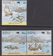 Australia ASC 1072-1074 1987 Australia Bicentennial VII, First Fleet At Tenerife, Mint Never Hinged - 1980-89 Elizabeth II