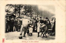 CPA PARIS Métiers. Hercule Sur La Place Publique (479430) - Petits Métiers à Paris