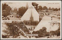 Multiview, Sheffield, Yorkshire, 1932 - RP Postcard - Sheffield