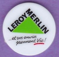 Jeton De Caddie En Plastique - Leroy-Merlin - Et Vos Envies Prennent Vie - Grande Surface De Bricolage - Grand Logo - Trolley Token/Shopping Trolley Chip