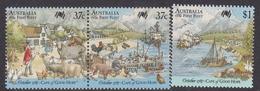 Australia ASC 1100-1102 1987 Australia Bicentennial IX First Fleet At Cape Of Good Hope, Mint Never Hinged - 1980-89 Elizabeth II