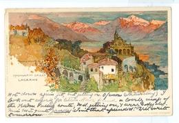 1908, Switzerland, Locarno, Manuel Wielandt Litho Art Pc, Used. - Wielandt, Manuel