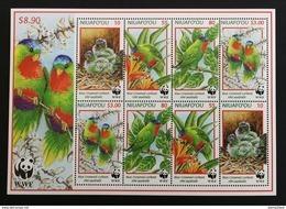 Niuafo'ou 1998** Klb.326-29. Birds - WWF [19;143] - W.W.F.