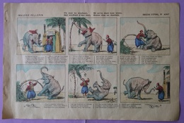 Image D Epinal Imagerie Pellerin Un Jour Un Elephant N° 4247 - Dentiste - Old Paper