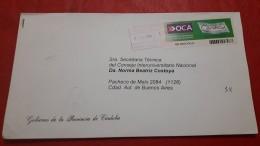 L'Argentine Enveloppe Un Courrier Privé Auprès De Marque Cordoba - Argentina