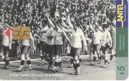 Nº 57 TARJETA DE URUGUAY DEL EQUIPO DE FUTBOL URUGUAYO (FOOTBALL) - Uruguay