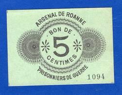 Pg  De  Roanne    5  Cts   De  1914/1918 - Bonds & Basic Needs