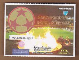 AC -  TORCH OF CENTENARY OF GALATASARAY SPORTS CLUB LOTTERY TICKET 2005 E - Lottery Tickets