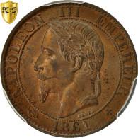 Monnaie, France, Napoleon III, 5 Centimes, 1861, Strasbourg, PCGS MS64BN - C. 5 Centimes