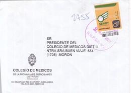 COLEGIO DE MEDICOS.ENVELOPE CIRCULEE MORON-PRIVATE MAIL SEPRIT YEAR 2007-ARGENTINE- BLEUP - Argentina