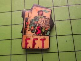 718b Pin's Pins / Beau Et Rare : Thème JEUX / JEU DE CARTE TAROT FFT FEDERATION FRANCAISE - Games