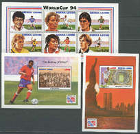 Sierra Leone 1994 Football Soccer World Cup Sheetlet + 2 S/s MNH - World Cup