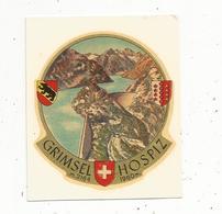Mo , Décalcomanie , Publicité , Suisse , GRIMSEL HOSPIZ , 2 Scans - Advertising
