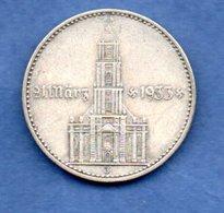 Allemagne -  2 Reichsmark  1934 J -  Km #81  -  état  TTB - 2 Reichsmark