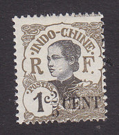 Indo China, Scott #65, Mint Hinged, Annamite Girl Surcharged, Issued 1919 - Unused Stamps