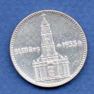 Allemagne -  2 Reichsmark  1934 F -  Km #81  -  état  TTB - 2 Reichsmark