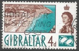 Gibraltar. 1960-62 QEII. 4d Used. SG165 - Gibraltar