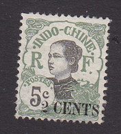 Indo China, Scott #68, Mint Hinged, Annamite Girl Surcharged, Issued 1919 - Unused Stamps