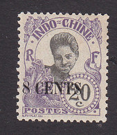 Indo China, Scott #71, Mint Hinged, Cambodian Girl Surcharged, Issued 1919 - Unused Stamps