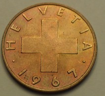 1967 - Suisse - Switzerland - 2 RAPPEN, B, KM 47 - Switzerland
