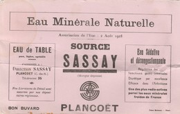 Buvard Source Sassay Plancoet - Alimentaire
