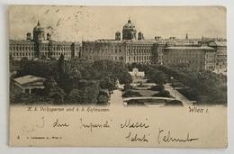 WIEN I - VOLKSGARTEN UND K.K. HOFMUSEEN  VIAGGIATA FP - Vienna