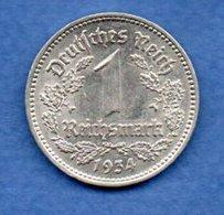 Allemagne -- 1 Reichsmark 1934 A  -  Km # 78 --  état  TTB+ - [ 4] 1933-1945 : Third Reich