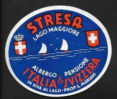 Stresa Lago Maggiore Propr Mariani - Italia Italie Etiquette Hôtel - Hotel Labels