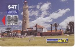 Nº 40 TARJETA DE URUGUAY DE ANTEL DE EL FARO DE PUNTA DEL ESTE (LIGHTHOUSE) - Uruguay