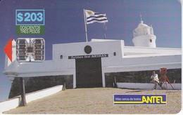 Nº 44 TARJETA DE URUGUAY DE ANTEL DE EL FARO DEL CERRO DE MONTEVIDEO (LIGHTHOUSE) - Uruguay