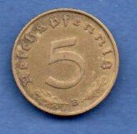 Allemagne -- 1 Reichspfennig 1939 B -  Km # 91 --  état  TTB - [ 4] 1933-1945 : Third Reich