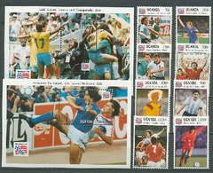 Uganda 1993 Football Soccer World Cup Set Of 8 + 2 S/s MNH - World Cup