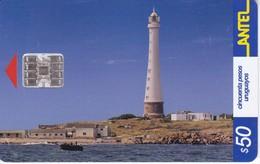 Nº 213 TARJETA DE URUGUAY DE ANTEL DEL FARO DE LA ISLA DE LOBOS 50$ (LIGHTHOUSE) - Vuurtorens