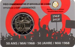 2 Euros Commémorative Belgique 50 Ans Mai 68 Coin Card 2018 Version Française - Belgium