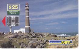 TARJETA DE URUGUAY DEL FARO DE CABO POLONIO - Lighthouses