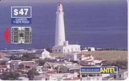 Nº 41 TARJETA DE URUGUAY DE ANTEL DE EL FARO DE LA PALOMA (LIGHTHOUSE) - Lighthouses