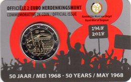 2 Euros Commémorative Belgique 50 Ans Mai 68 Coin Card 2018 Version Flamande - Belgium