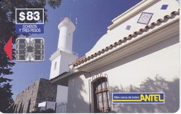 Nº 43 TARJETA DE URUGUAY DE ANTEL DE EL FARO DE COLONIA DEL SACRAMENTO (LIGHTHOUSE) - Lighthouses