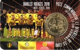 2,50 Euros Commémorative Belgique Diables Rouges Coin Card 2018 Version Française - Belgium