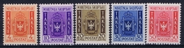 Italian Occupation Of Albania: Sa Segnatasse 1 - 5  Mi 35 - 39 Postfrisch/neuf Sans Charniere /MNH/** - Albania