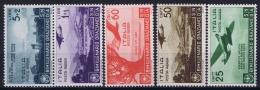 Italy  Sa A95 - A99 Mi 555 - 559 Postfrisch/neuf Sans Charniere /MNH/** 1936 - 1900-44 Victor Emmanuel III