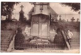 PROVENCHERES-SUR-FAVE -  Le Monuments Aux Morts. - Provencheres Sur Fave