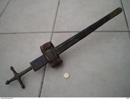 ANCIENNE EPEE POIGNARD DE BRAS TELEK TOUAREG - Armas Blancas