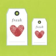 2 Cartes Parfumées Carte FRESH   9 Cm X 5 Cm  ET 12 Cm X 7 Cm RECTO VERSO - Cartes Parfumées